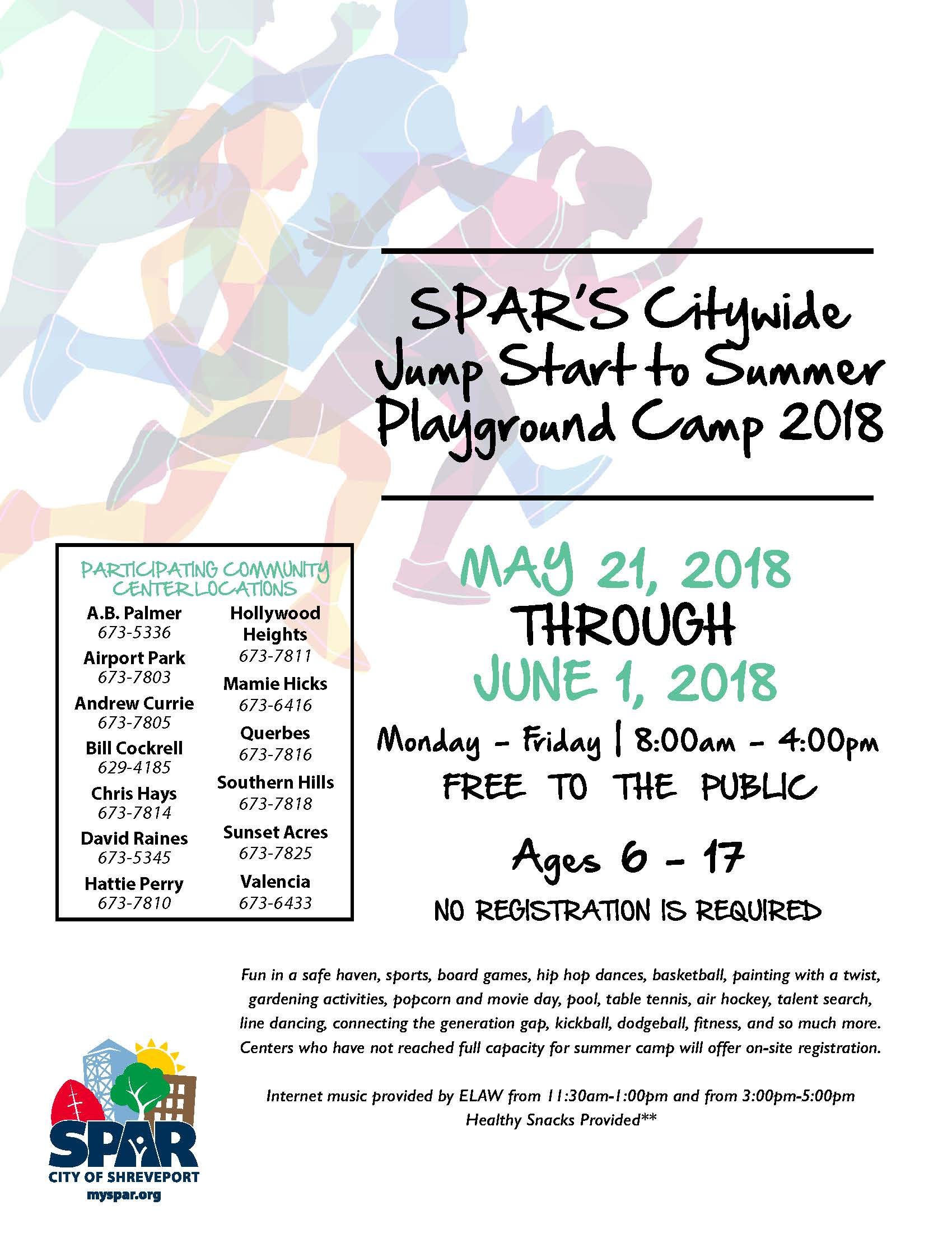 SPAR CC Pre-Summer Camp 2018 Flyer