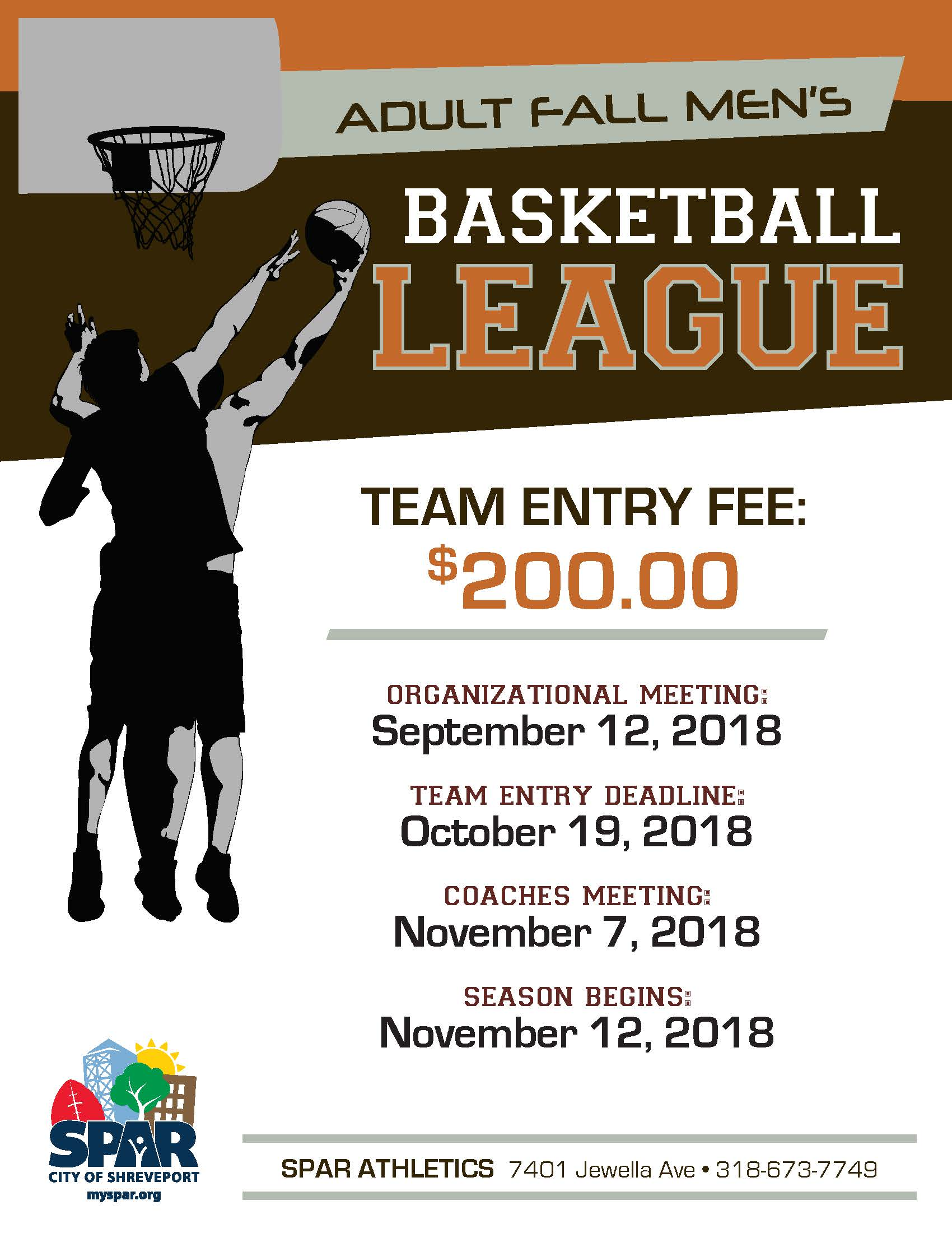 2018 SPAR Athletic - Mens Fall Basketball league