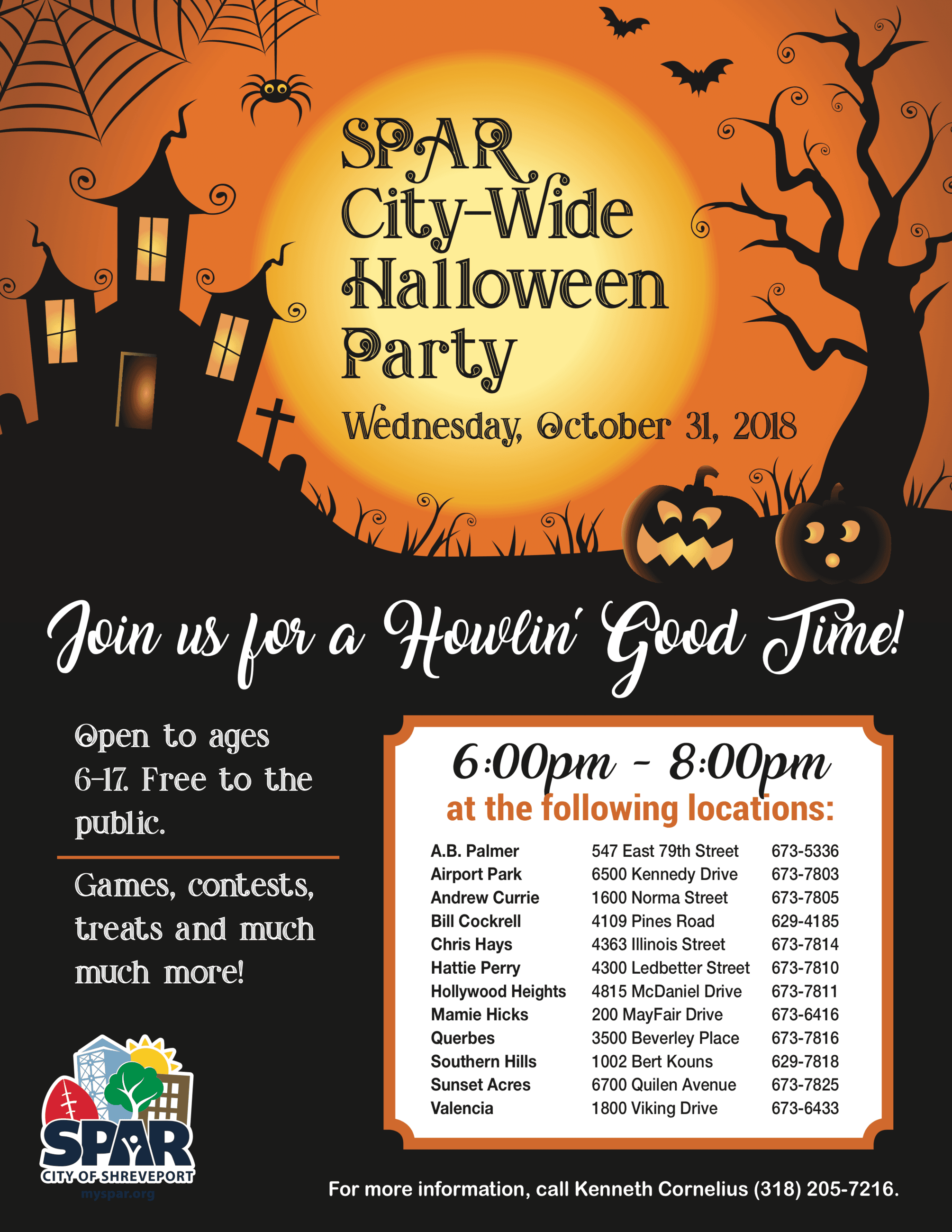 2018 1031 Citywide Halloween Party flyer