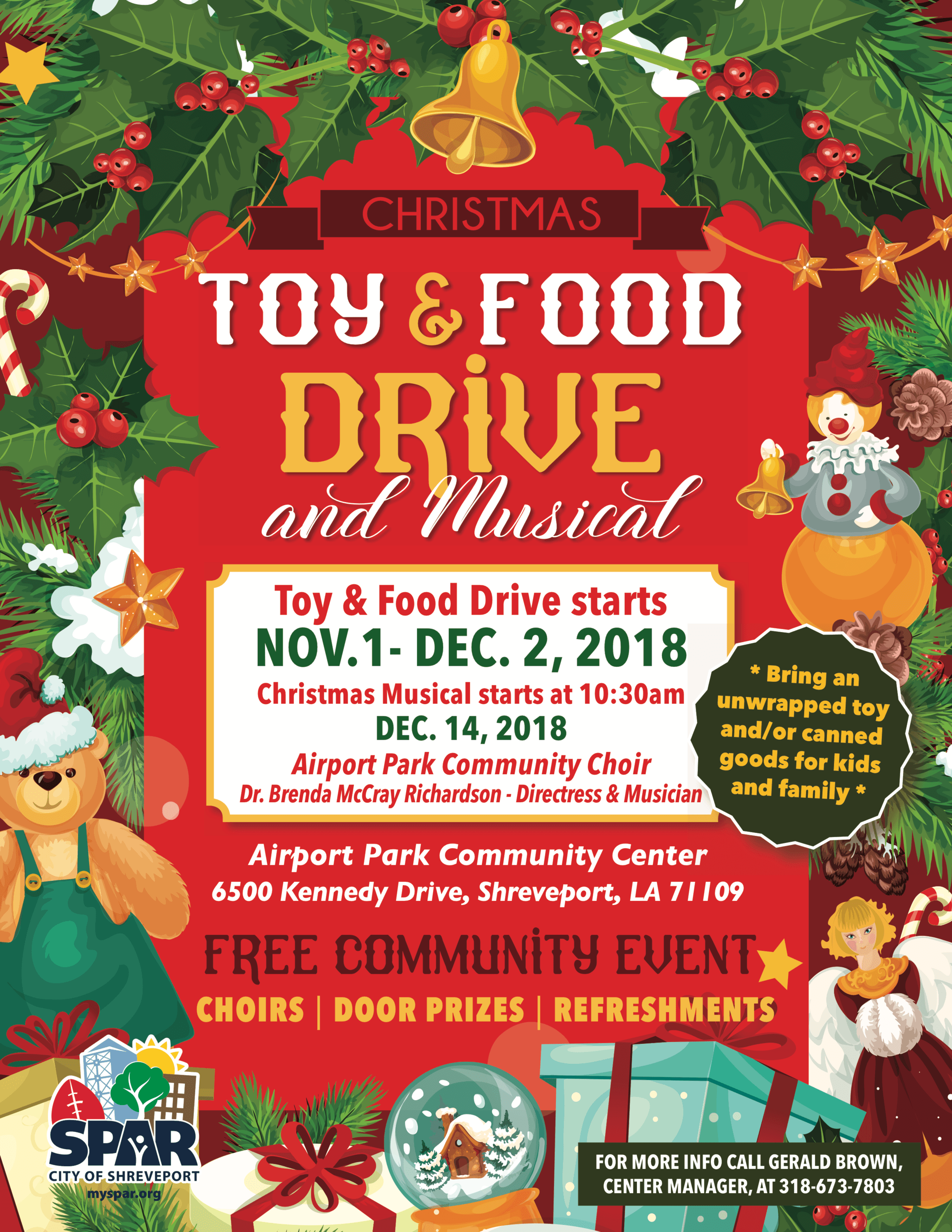 2018 11 CC-AP Christmas Toy Food Drive flyer