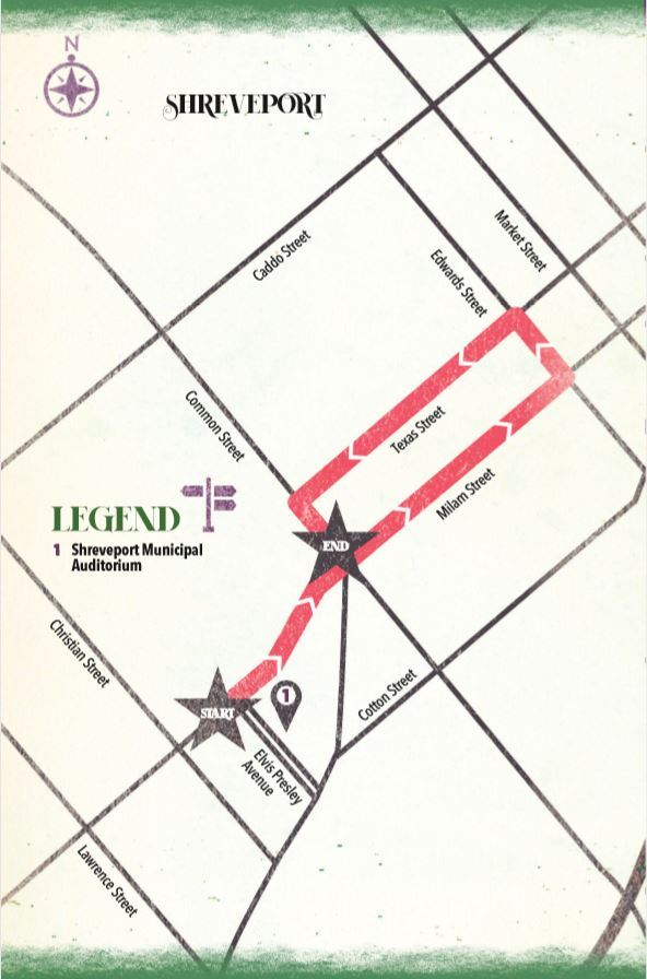 Krewe of Harambee parade map