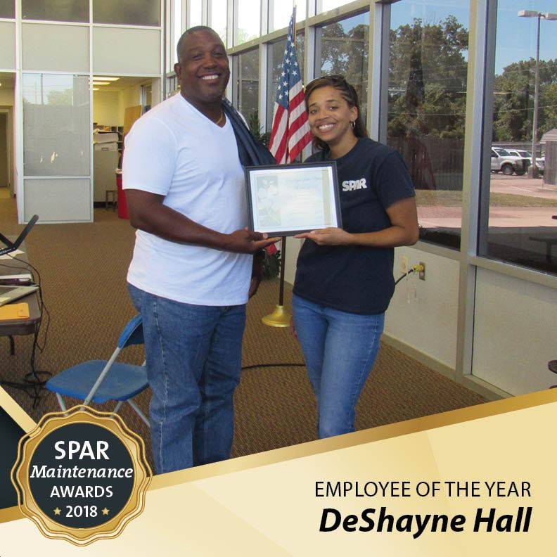 Employee of the Year:  DeShayne Hall