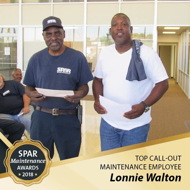 top Call-Out  Maintenance Employee: Lonnie Walton