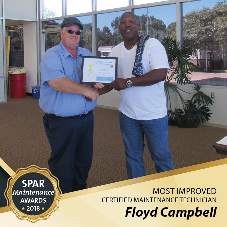 Most Improved Certified Maintenance Technician: Floyd Campbell