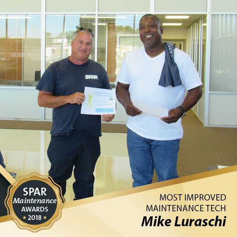 Most Improved Maintenance Tech: Mike Luraschi