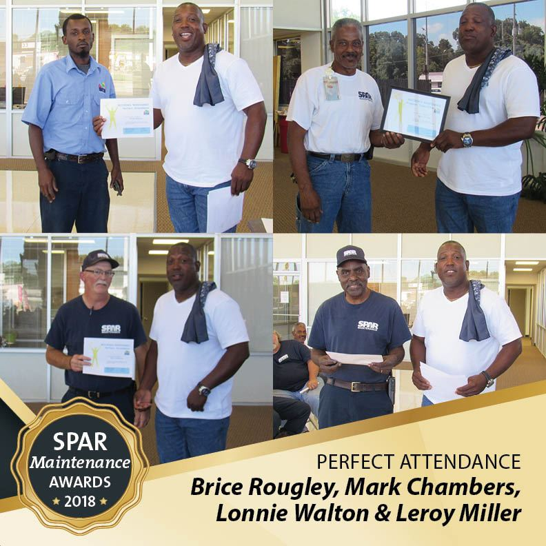 Perfect Attendance: Brice Rougley, Mark Chambers, Lonnie Walton & Leroy Miller