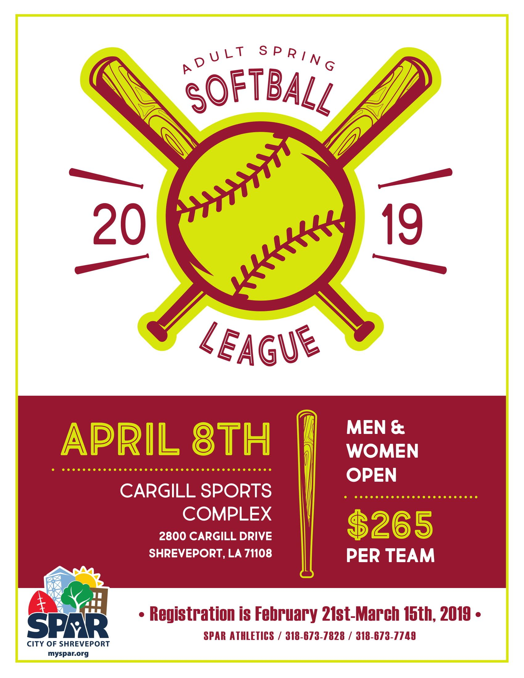 2019 Adult Spring Softball
