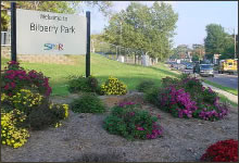Bilberry Park Community Center Sign