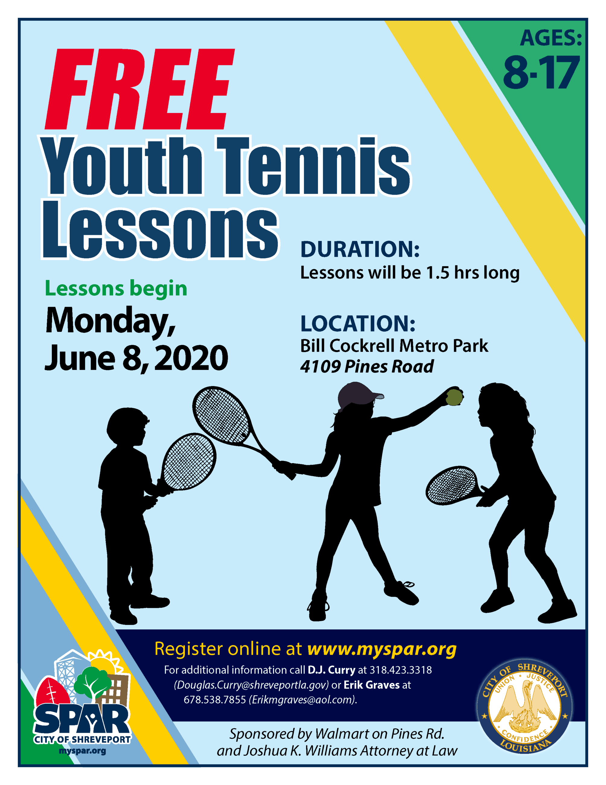 2020 Free Youth Tennis lessons
