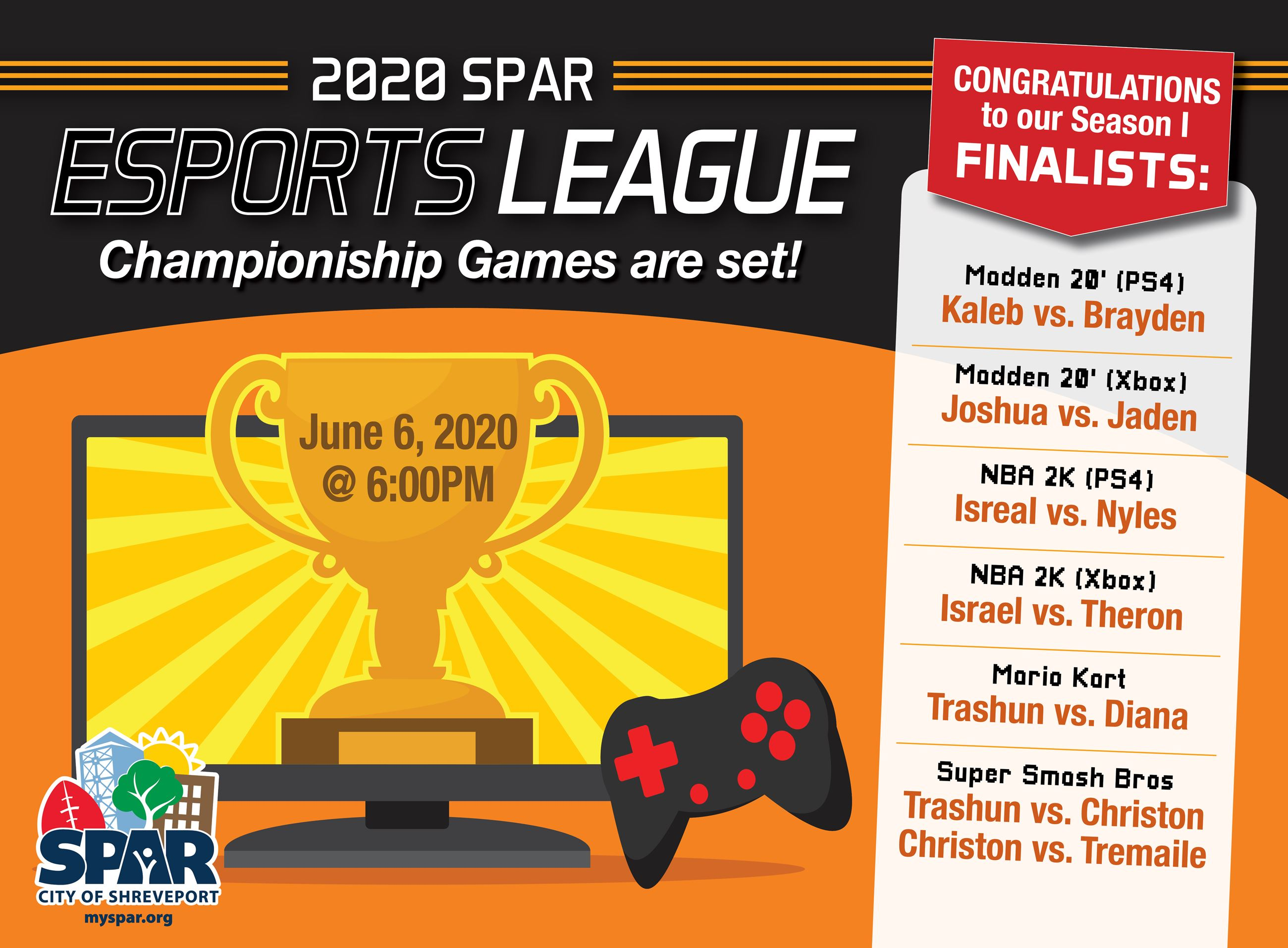 2020 Esports League Finalists