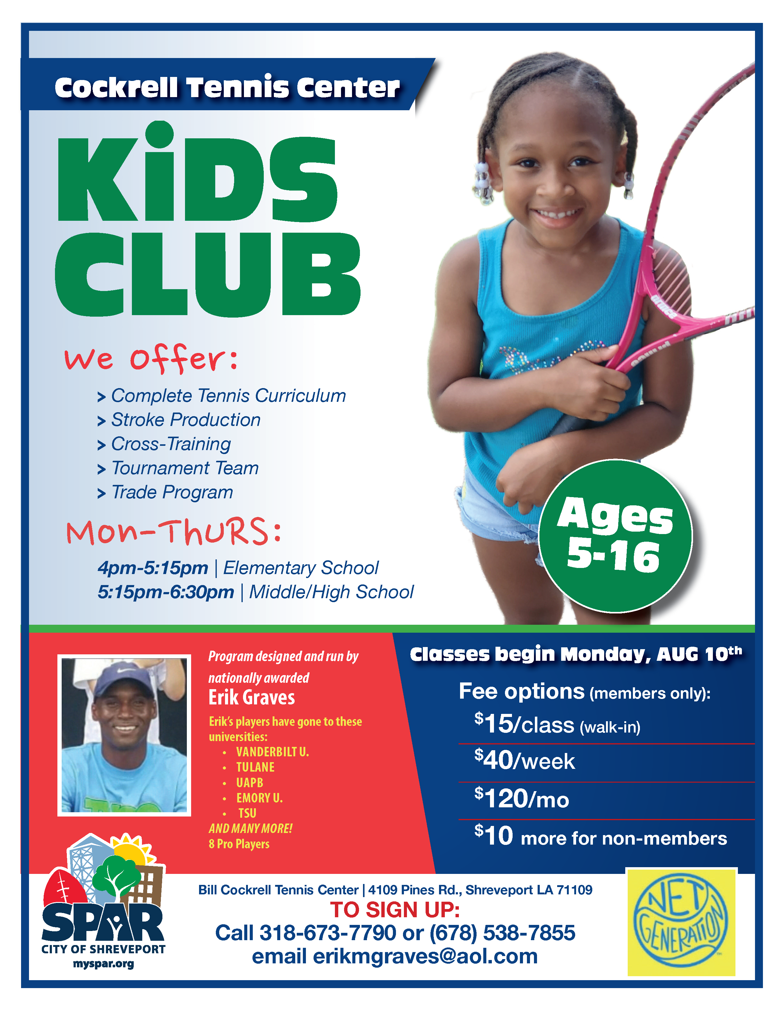 2020 CC-BC Kids Tennis club Flyer