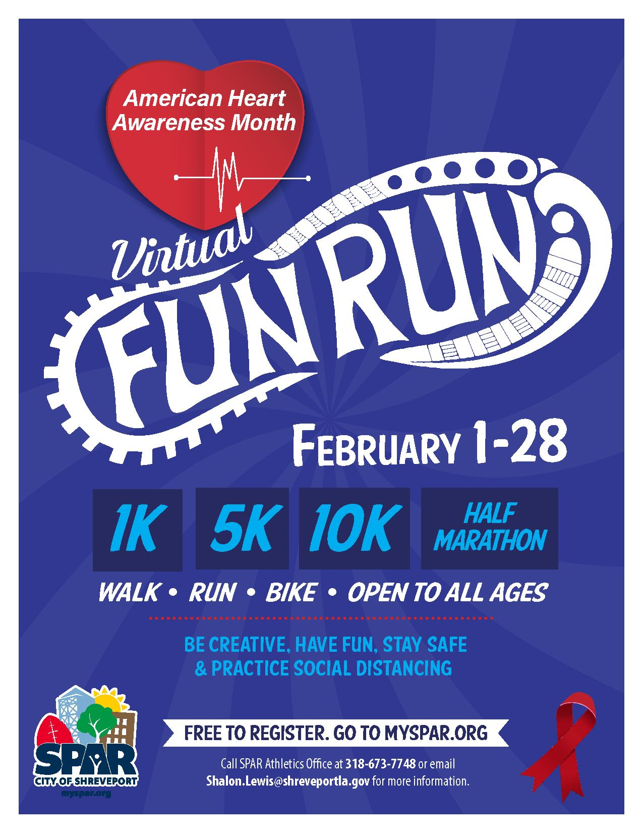 2021 02 American Heart Association Fun Run_flyer