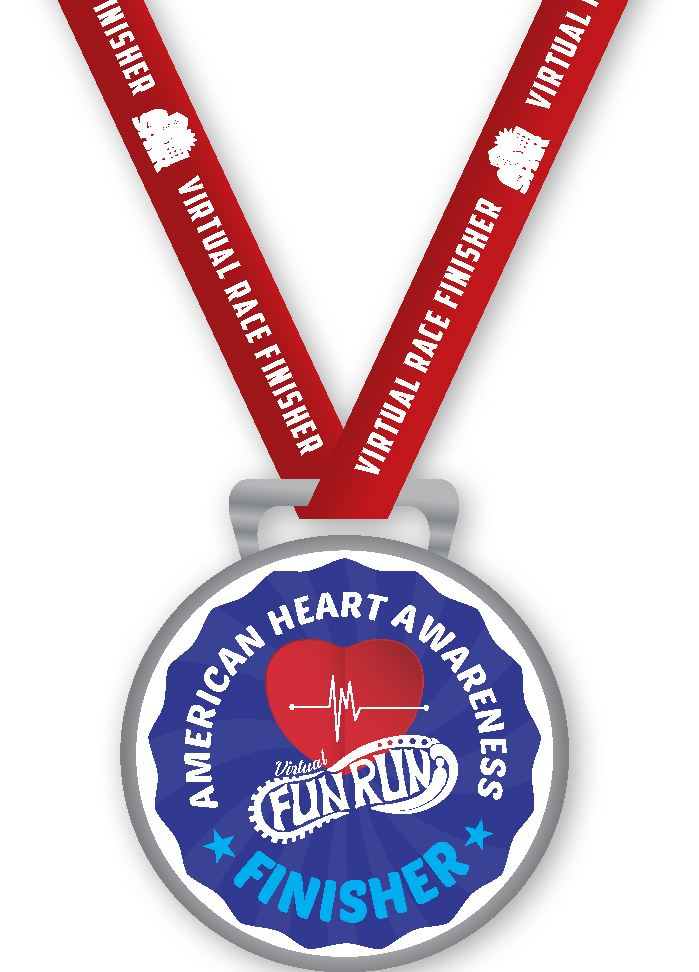 2021 02 American Heart Association Fun Run_medal