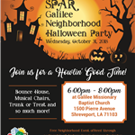 2018 1031 Galilee Halloween Party flyer
